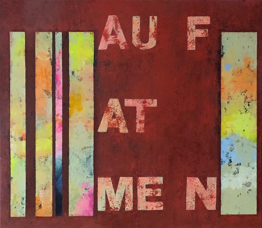 Aufatmen / Collage, Acryl auf Leinwand - 70 x 80 cm - 2021