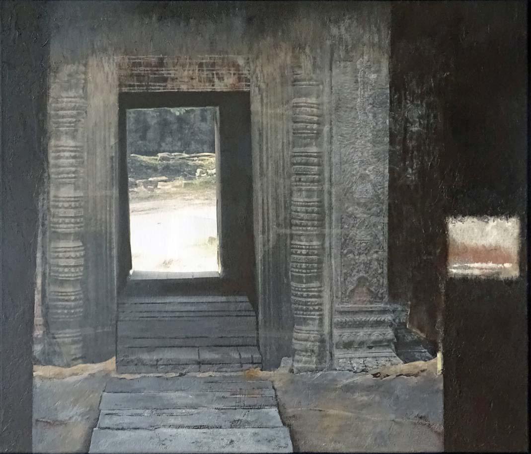 Ausblick - Einblick / Collage Acryl auf Leinwand - 60 x 70 cm - 2020